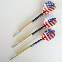 Wholesale Nerf Mega Darts with National Flag Flights Aluminum Shafts and Brass Barrels Dart needle Hard Nickel Plated Copper Plating