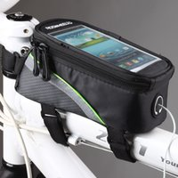 Wholesale Roswheel Cycling Bike Bicycle Frame Front Tube Phone Bag PVC with Audio Extension Line for quot quot quot Cellphone Colors