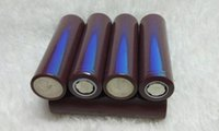 Wholesale 18650 Rechargeable Lithium Battery For LG HG2 Electronic Cigarette Box Mods mah a PK HE4 HE2 R VTC4 VTC5