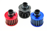 Wholesale Blue Universal mm Car Secondary Air Intake Filter High Flow air cleaner Engine Can be cleaned dust Washable
