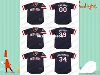 barker s - Retro Custom JOE CHARBONEAU LEN BARKER Baseball jersey Throwback Navy Mens Stitched jerseys