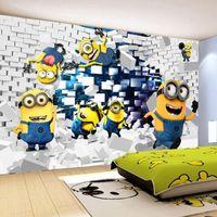 animation photos - Custom Photo Wallpaper D Stereo Cartoon Children s Room Bedroom TV Background Murals Non woven Cartoon Animation Wallpaper