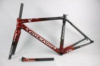 carbon fiber bicycle frame - 2016 Factory high quality NEW C60 carbon bicycle frame carbon fiber road bike frame for DI2 carbon bike frame