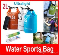 Cheap 2L Outdoor Light weight Rafting Bag Waterproof Bag Ultra Small Volume Dry Storage Bag Folding Dry Bag Orange Green Blue White