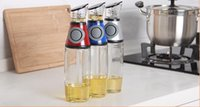 Wholesale 500ml Glass Oil And Vinegar Dispenser Measurable Pressing Button Olive Oil Bottles Kitchen Tools
