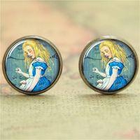alice earrings - 10pairs Alice earring Alice in Wonderland earring print photo Literary earring