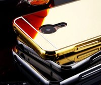 For Samsung acrylic mate - Bling Mirror Case Metal Aluminum Bumper Frame For Meilan Note3 note2 Note Meilan2 Meizu MX5 MX5 Pro Mate L Pro6 Hard Acrylic PC Hybrid Skin