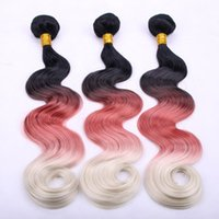 Wholesale Inches g pc Three Tone Ombre Color Heat Resistant Synthetic Hair Wavy Hair Extensions