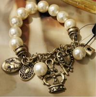 Wholesale 2016 Fine Jewelry Selling Beaded Strands Middle Eastern Gift Bracelets Summer Style Bijoux Jewelry Pearl Stretch Bracelet Factory NK21