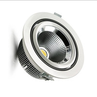 aluminum led source - COB downlight W W W integrated surface light source Warm white White led ceiling down lights AC85 V
