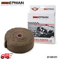 Wholesale EPMAN Heat Shields Heat Exhaust Thermal Wrap Tape With Stainless Ties Black White Titanium Bronze EP WR21BK