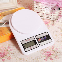 Wholesale SF electronic balance kg g kg g Digital Electronic Kitchen Weigthing household Scales Diet Food Balance Scales free DHL