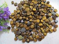 aquarium plant pots - Top natural Yellow Tiger eye nunatak aquarium decoration pot magnet flower crystal ore decoration