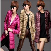 Wholesale Winter Jacket Women Coat Long Thin Brand White Duck Down Parka Ultra light Down Jacket the north of faces jacket