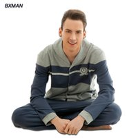 best men s health - Men Pajamas Sets The Best Price For You Modern Full Striped Style Pajamas For Male Comfortable Soft Cotton Men Health Care