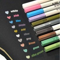 Wholesale Colorful Metallic Waterproof Marker Pens Ink Scrapbook Decorative Card Making Gift colors