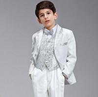 Wholesale The new boy suit flower girl dress white wedding celebration child costume boys suits