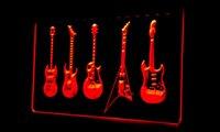band hero music - LS181 r Guitar Hero Weapon Band Music Room Bar Neon Light Sign jpg