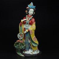 antique ceramic dolls - Shiwan dolls Antiques Statues Marvel for Decoration Vintage Collectibles Chinese Porcelain Figure Sculptures Painted Figurine Art Ceramics