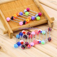 Wholesale set jewelry Steel piercing tongue ring studs barbell bar ring Nibble Bars Gauge