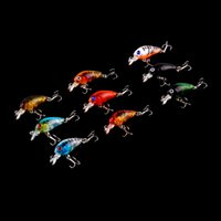 Cheap 2016 New Arrival 9pcs fishing tackle 3D eyes Plastic fishing lure Bass CrankBait Crank Bait Tackle fishing bait 4.5cm 4g
