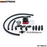 Wholesale EPMAN Racing Car New Billet Fuel Pressure Regulator Gauge Kit Fittings With Oil Line Red EP MGTE
