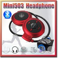 android stereo bluetooth - Headphones dj Mini Stereo Bluetooth Headset Wireless Headphones Neckband Style Earphone Mini503 for iPhone Samsung Android phone EAR034