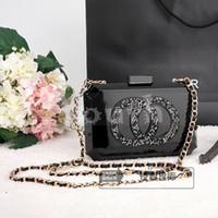 Wholesale Brick Vintage Bag Famous Brand Acrylic Evening Bags Suprem Quality Stylish Block Clutch Handbag Concave CC Perfume Purse A016