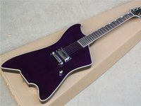 Wholesale G6199 Unusual Shape Electric Guitar with Purple Body and Upside down Strings and Can be Customized