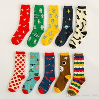 Wholesale women socks South Korea style travel series Star Hot Air Balloon Cotton Girls Socks pairs A068