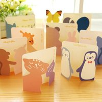 Wholesale Lovely Mini Paper Greeting Card Gift Birthday Thank You Card Cute Cartoon Kids School Office Supplies Message Memo