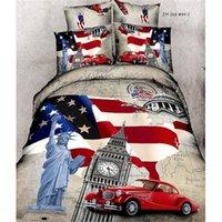 Wholesale 100 Cotton D Printed Dream Sports car Pieces Bedding Sets Duvet Cover Sets Duvet Cover Bed Sheet Pillow Case