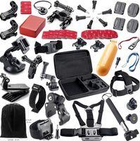 Wholesale Hero Gopro accessories set SJ5000 SJ6000 SJ4000 xiaoyi Floating rod strap headband car chuck GoPro Action Cam Accessories