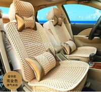 Wholesale Ice Silk Car Seat Cover Meryl Seat Cover Summer Season Use High Quality Front Rear Seat Universal Car Interior Accessories