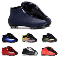 Wholesale Drop Shipping Football Shoes Men Mercurial Superfly FG Soccer Boots New Outdoor High Quality Men s Sports Shoes Size