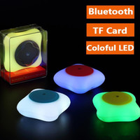 Wholesale fashion C1 Portable Wireless Bluetooth Mini Speaker Support TF Card Colorful LED lights HIFI Music Speakers Outdoor Stereo Subwoofer