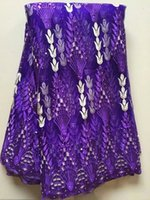 african wedding basket - New fashion african purple lace fabric with hanging basket pattern french net lace cloth for wedding clothing LN1 yards pc