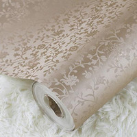 Wholesale Beige off white Textured waterproof Pvc vinyl rustic small flowers wallpaper Floral wall covering Wall paper roll For bedroom