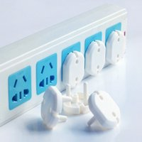 Wholesale 10pcs Russian EU European Euro Electric Socket cover cap electrical Outlet Plug Two Phase Safe protector lock