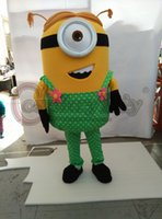 Wholesale Girl Minion in green dress adult minion mascot costume custom made for carnival Halloween party