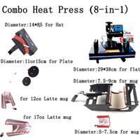 Wholesale 8 in1 combo heat press machine heat transfer machine