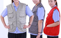 Wholesale Multiple pockets waistcoat pocket overalls Fishing photography vest