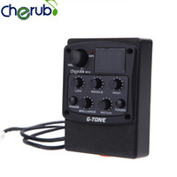 Wholesale Cherub G Tone Band EQ Equalizer Acoustic Guitar Preamp Piezo Pickup LCD Guitar Equalizer with Tuner Function Guitar Parts