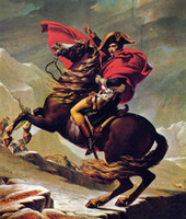 alps canvas - Jacques Louis David Napoleon Crossing the Alps on Red Horse Hand painted Art oil painting On Canvas in any size customized