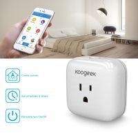 Wholesale Koogeek Home Smart Plug WiFi Enabled with Apple HomeKit Technology Support Siri Control Electronics Monitor Energy Consumption P1