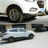 advertising wheels - 8M Car styling Hub Wheel Stickers Protector Tire Protection Decoration Car Tyre Rim Stickers Motorcycle Cheap sticker advertising for cars