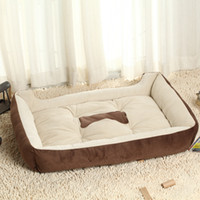 Wholesale Large Warm Soft Fleece Pet Dog Kennel Cat Puppy Bed Mat Pad House Kennel Cushion