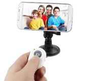 Wholesale New Wireless Bluetooth Self pole Remote Shutter Smart phones Remote Camera Control Wireless Self timer Shutters for Selfie Monopod Sticks