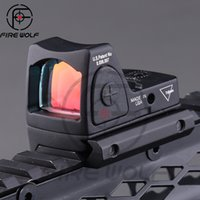 Wholesale 2016 New Trijicon Style Reflex Tactical Adjustable Red Dot Sight Scope for Rifle Scope Hunting Shooting