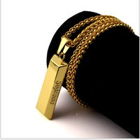 al por mayor cadenas personalizadas-Mens Geometric Necklaces 18k Gold Plated Fashion Personalized Design Joyería de Hip Hop Long 80CM Cadenas Punk Rock Hombres Colgante Collar